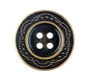 Metal sewing button Stock Photo