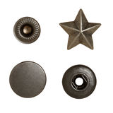 Metal sewing buttons Stock Image