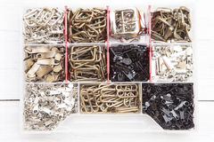 Metal sewing elements Stock Photos