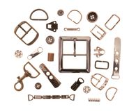 Metal sewing fittings Royalty Free Stock Images