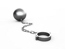 Metal shackles. On the white Royalty Free Stock Photos