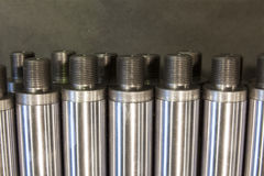 Metal shaft with thread Stock Photo