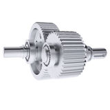 Metal shafts, gears and bearings Stock Photo