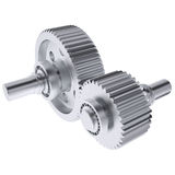 Metal shafts, gears and bearings Stock Image