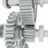 Metal shafts, gears and bearings Royalty Free Stock Image