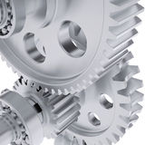 Metal shafts, gears and bearings Stock Photography