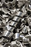 Metal shavings Stock Photo
