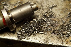 Metal shavings Stock Images