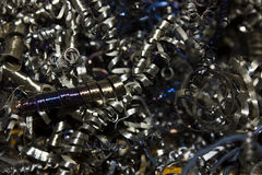 Metal shavings Stock Image