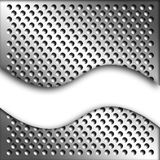Metal sheet. The picture shows detail of a perforated metal plate Royalty Free Stock Photo