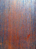 Metal sheet with bright orange and blue rust Stock Photo
