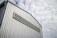 Metal sheet building Stock Photography