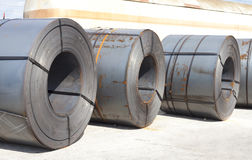 Metal sheet in coil Royalty Free Stock Photos