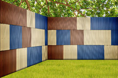 Metal Sheet Fence Stock Images
