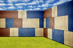 Metal sheet fence Stock Image