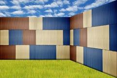 Metal sheet fence Stock Image