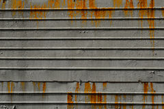 A metal sheet. Metal fence is covered with rust Royalty Free Stock Photo