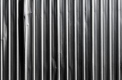 Metal sheet fence enclosed around the construction site. The construction site border fance enclosed by corrugate metal sheet Stock Photos