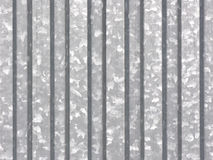Metal sheet - galvanized. Folded metal sheet with visible zinc crystalisation points Stock Photo