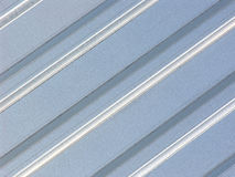 Metal sheet - galvanized. Folded metal sheet Stock Photography