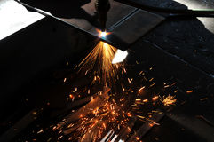 Metal Sheet Gas Cutting Stock Photos