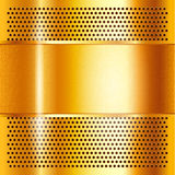 Metal sheet gold Royalty Free Stock Photography