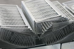 Metal sheet product Royalty Free Stock Image