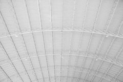 Roof flame. Metal sheet roof flame in black and white, roof frame structure ,abstract white interior Stock Image