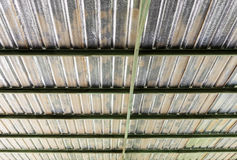 Metal sheet roof with insulation Stock Photos