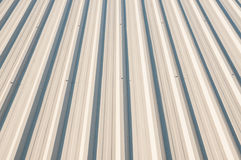Metal sheet Roof Stock Photo