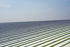 Metal sheet roof Stock Photo