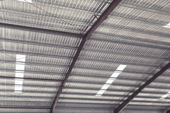 Metal sheet roof of storehouse Royalty Free Stock Image