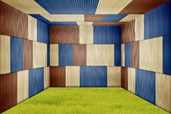 Metal sheet room Royalty Free Stock Images