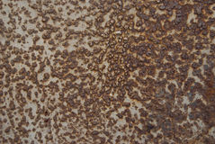 Metal sheet with rust stains Royalty Free Stock Images