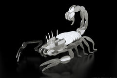 Metal Sheet Scorpion Made By Laser Cutting (Second Version) Stock Photo