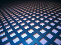 Metal sheet with square holes Royalty Free Stock Images