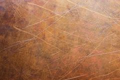 Metal sheet stripped, texture of copper old plate Royalty Free Stock Images