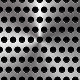 Metal Sheet / Surface with Holes. Perforated Metal background. Stock Photo