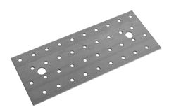 Metal sheet surface with holes Royalty Free Stock Photos