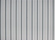 Metal sheet wall Stock Photo