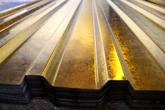 Metal sheets Royalty Free Stock Photography
