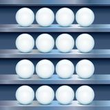 Metal Shelf with Empty Glass Buttons. Vector Image Stock Images