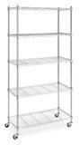 Metal shelves rack Stock Image