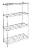 Metal shelves rack Royalty Free Stock Image