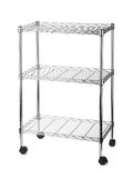 Metal shelves rack Stock Photography