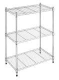 Metal shelves rack Stock Photo