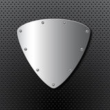 Metal shield background Royalty Free Stock Photos