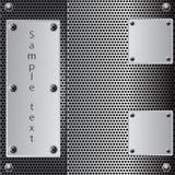Metal shield background Stock Photo
