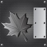 Metal shield background Stock Image