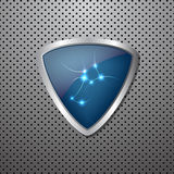 Metal shield background Stock Images